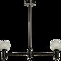 Suspension en métal noir et verre L86cm-ROBERTO