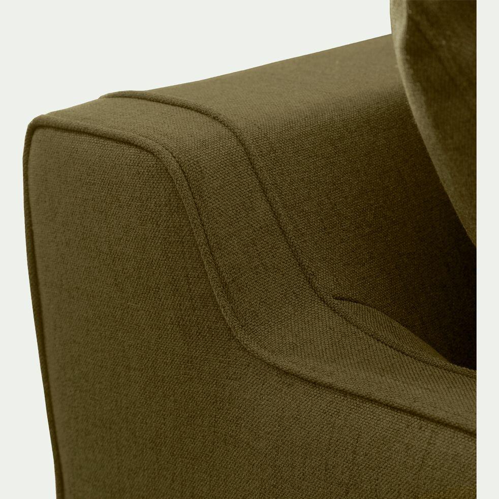 Canapé 3 places convertible en tissu - vert cèdre-LENITA