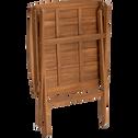 Table et chaises de jardin en acacia-SORI