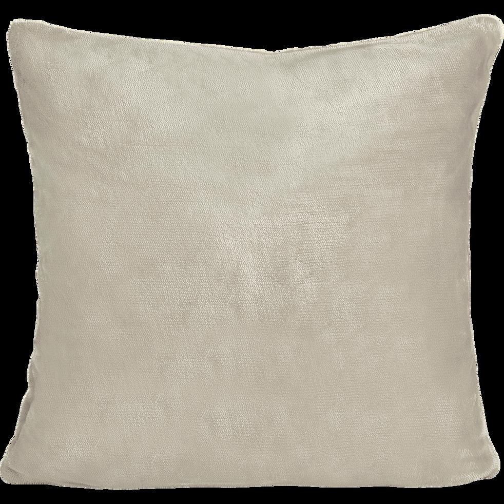 housse de coussin effet doux beige roucas 40x40cm robin. Black Bedroom Furniture Sets. Home Design Ideas