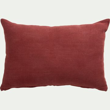 Coussin rectangulaire en lin - rouge arcilla 40x60cm-COTTA