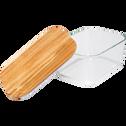 Boîte rectangulaire en verre couvercle en bois-SAPAN