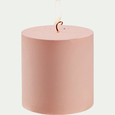 Bougie votive - mate rose D7xH7cm-RIGUEL
