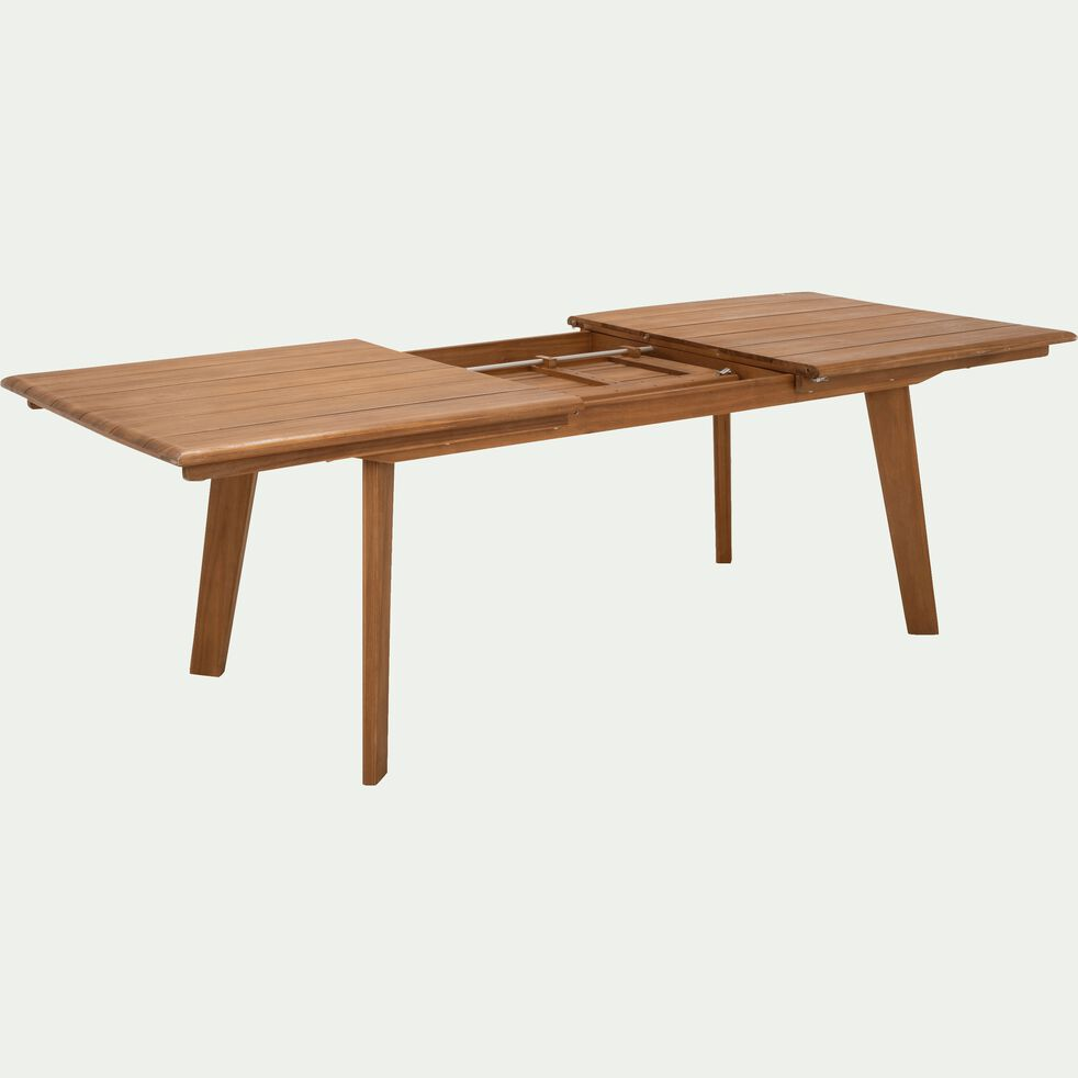 Table de jardin extensible en eucalyptus (6 à 10 places)-DEGABY