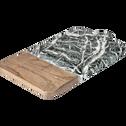 Planche à découper en frêne et marbre noir 36X19cm-PILO
