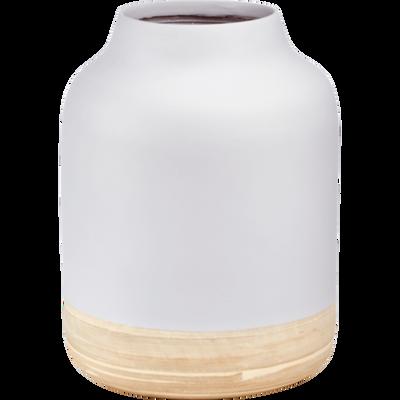 Vase en bambou gris D24xH31cm-SIRIUS