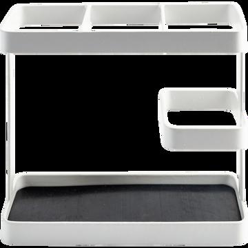 Porte ustensiles 15x7xH17 cm en fer blanc-ESCU