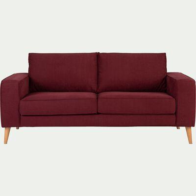 Canapé 2 places fixe en tissu rouge sumac-CALIFORNIA