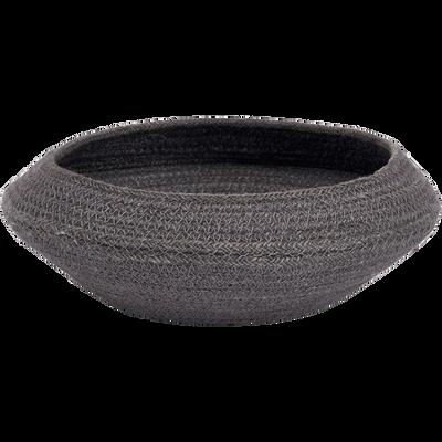 Corbeille en jute noire D4cm-SAKURA