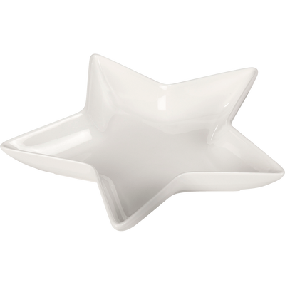 Grande coupelle forme étoile en porcelaine blanche-Estella