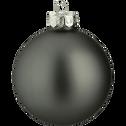 10 boules de Noël en verre gris D6cm-BOCCA
