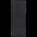 Meuble à chaussures en acier Noir mat - 8 paires-LOFTER