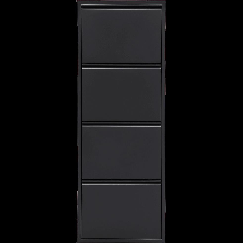 meuble chaussures en acier noir mat 8 paires lofter. Black Bedroom Furniture Sets. Home Design Ideas