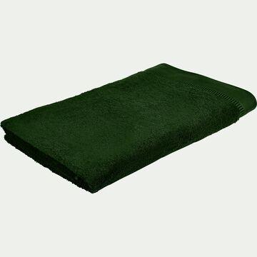 Drap de bain bouclette en coton égyptien - vert cèdre 100x150cm-ARROS