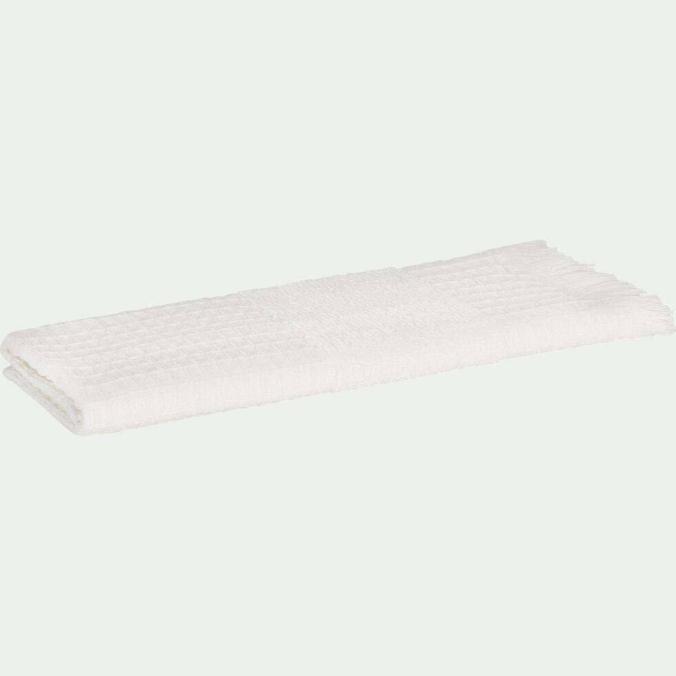 Serviette invité en bouclette de coton - blanc 30x50cm-TOMAR