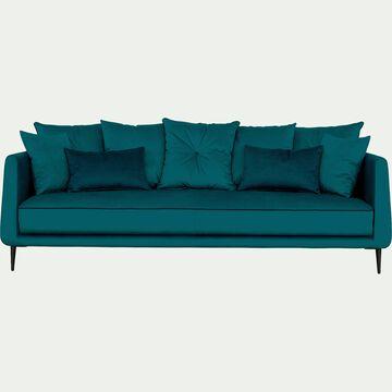 Canapé 4 places fixe bleu niolon-ASTELLO