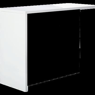 Bar bicolore grand modèle blanc et noir - L145cm-BASIL