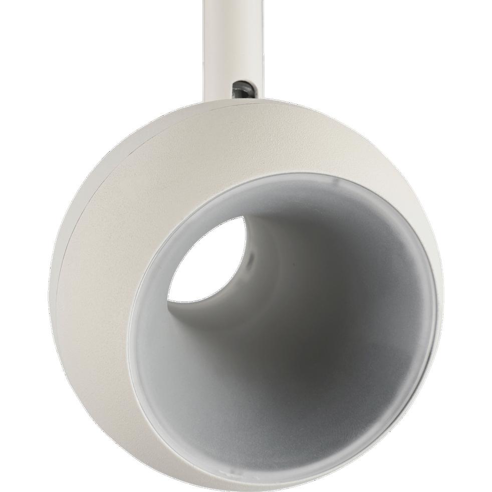Spot en métal blanc 4 LED intégrées blanc chaud-INOVA