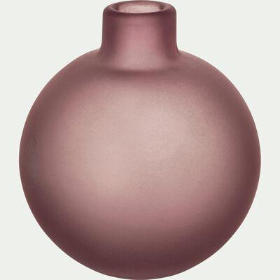 Vase en verre rose H10 cm-PISTIL