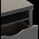 Bureau avec caisson Gris foncé-COLIN