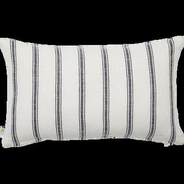 Coussin lin et coton à rayures 30x50 cm-PASSO