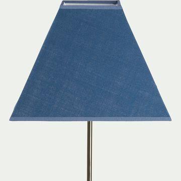 Abat-jour carré bleu figuerolles-MISTRAL