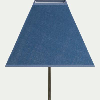 Abat-jour carré - bleu figuerolles D25cm-MISTRAL