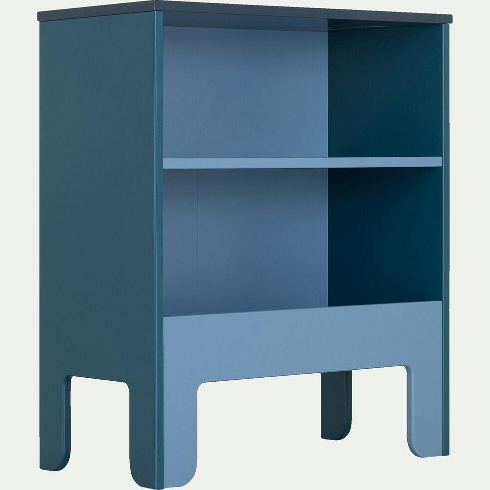 Bibliothèque enfant sans visserie 2 cases - bleu figuerolles-MINOT