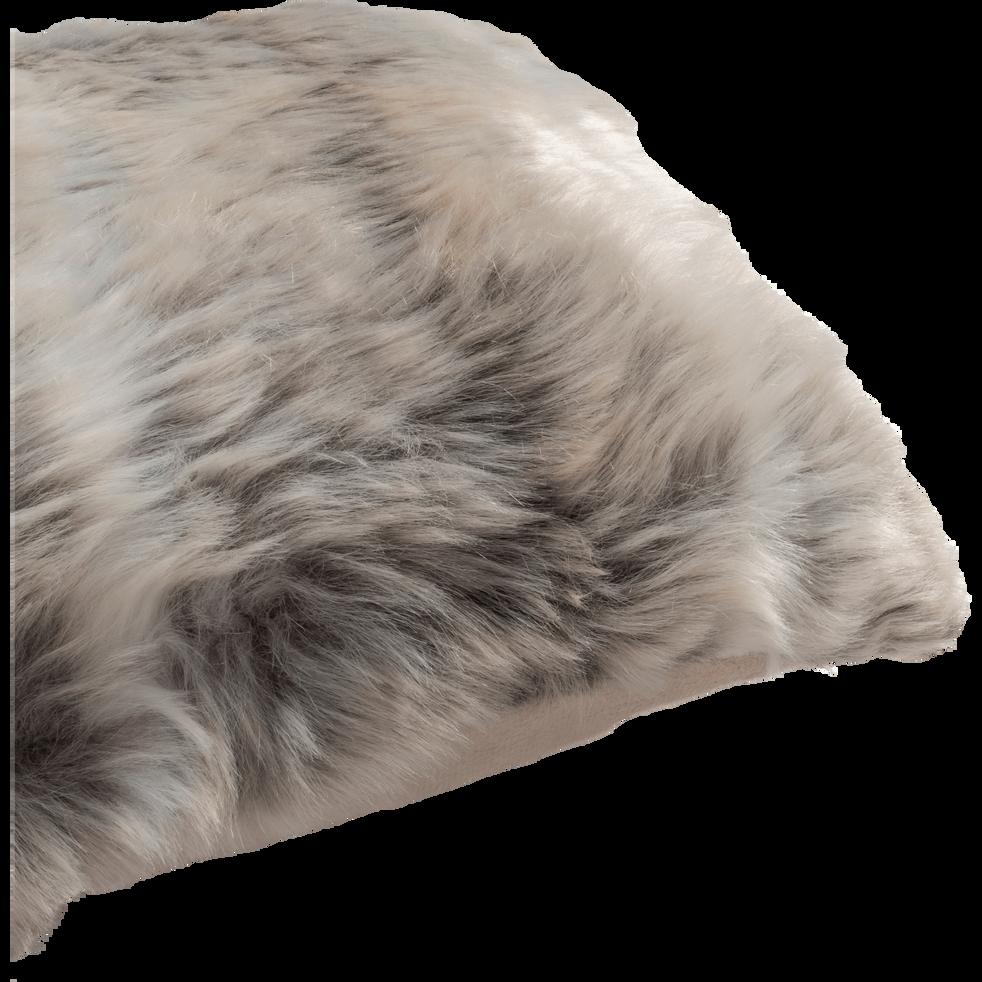 Coussin imitation fourrure beige 30x50cm-LOUP