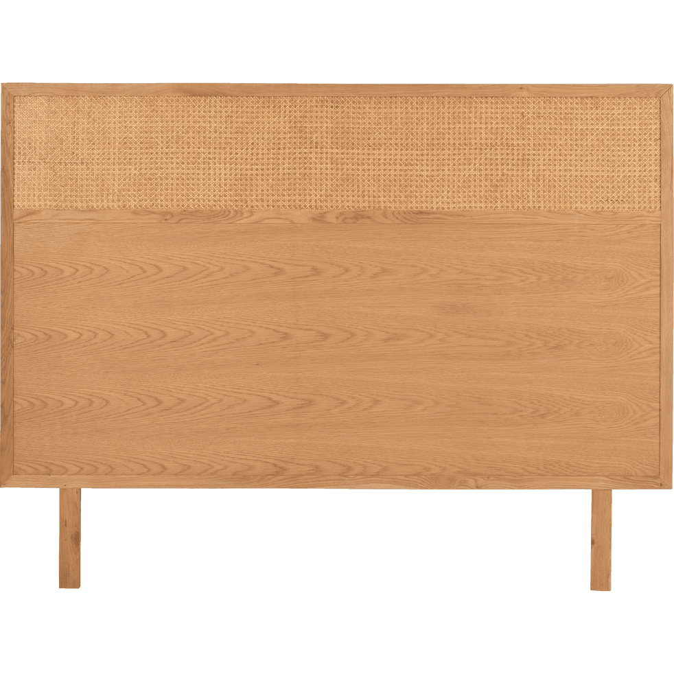 t te de lit avec cannage l160 cm arthura l160 cm. Black Bedroom Furniture Sets. Home Design Ideas