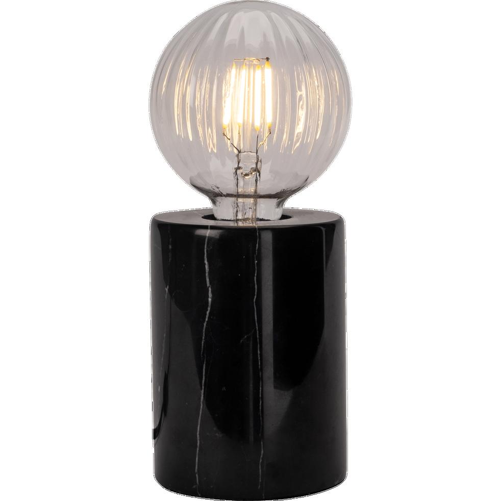 Prao Lampe En Marbre Noir H12 5xd9cm