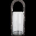 Lanterne en métal gris anthracite H65xD18cm-Pilone
