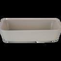 Plat à four rectangulaire en grès beige roucas 26x18cm-ALVARA