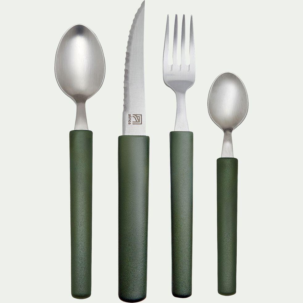 Couteau de table en matière végétale 100% recyclable - vert-LINE