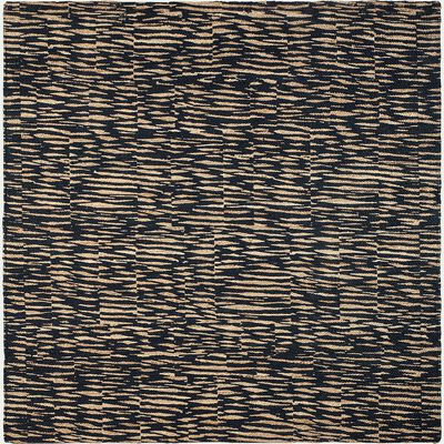 Tapis carré en jute à motif - bleu 200x200cm-OUMBRUN