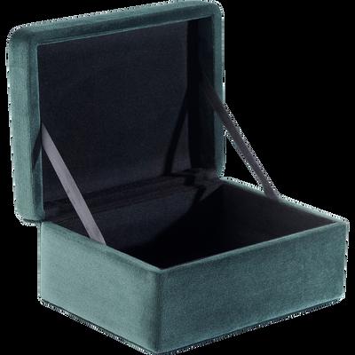 Boite en velours vert L12xH16cm-IRIS
