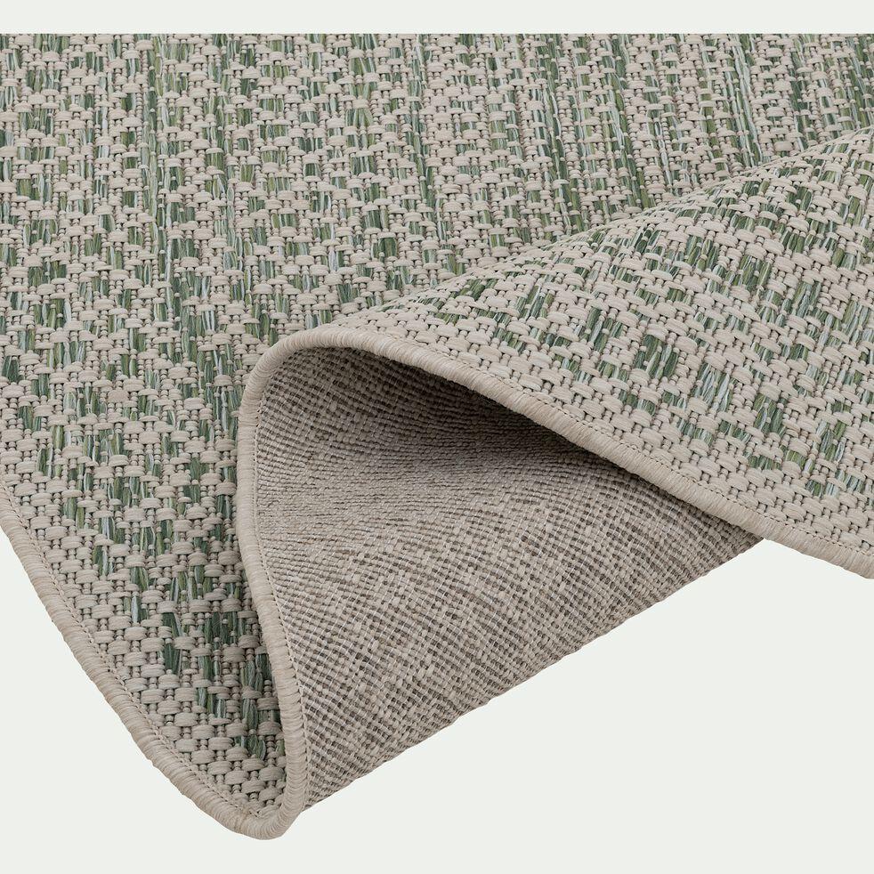 Tapis rond intérieur et extérieur - beige et vert D120cm-MIGO
