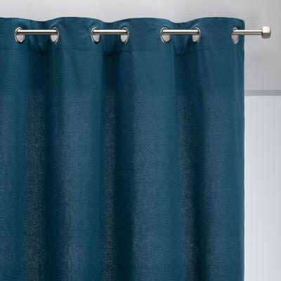 Rideau à œillets en coton - bleu figuerolles 140x250cm-CALANQUES