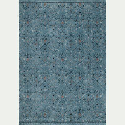Tapis à motifs - bleu 160x230cm-LAZULI