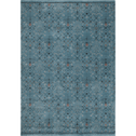 Tapis rectangulaire à motifs bleu 160x230 cm-LAZULI