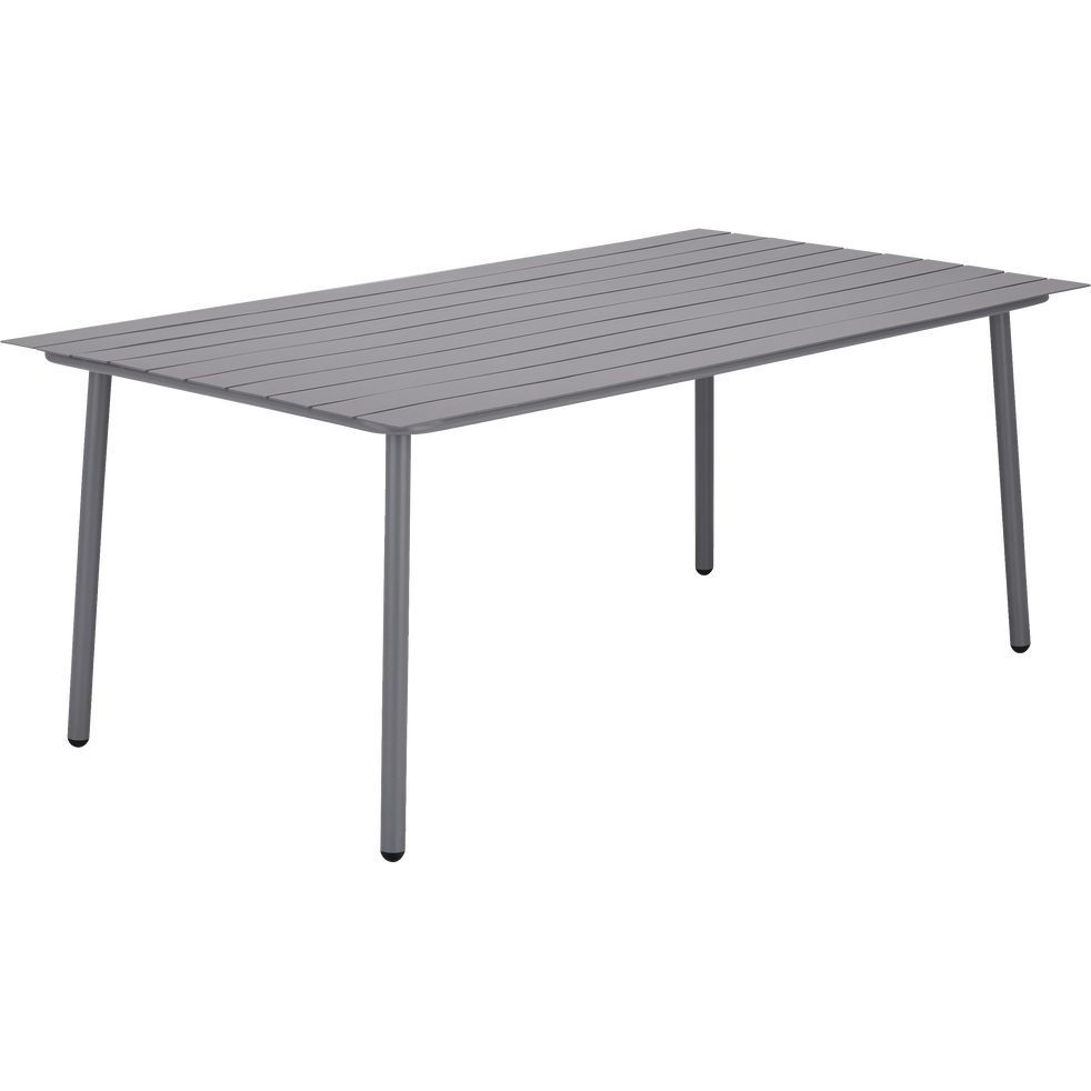 Table de jardin gris restanque en aluminium (6 places)-CENOZA