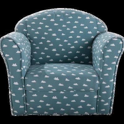 Fauteuil club bleu motif nuage pour enfant-CLUBBY