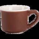 Tasse en porcelaine marron 9cl-CAFI