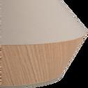 Suspension en tissu chêne et tissu vert D40cm-DOMUS