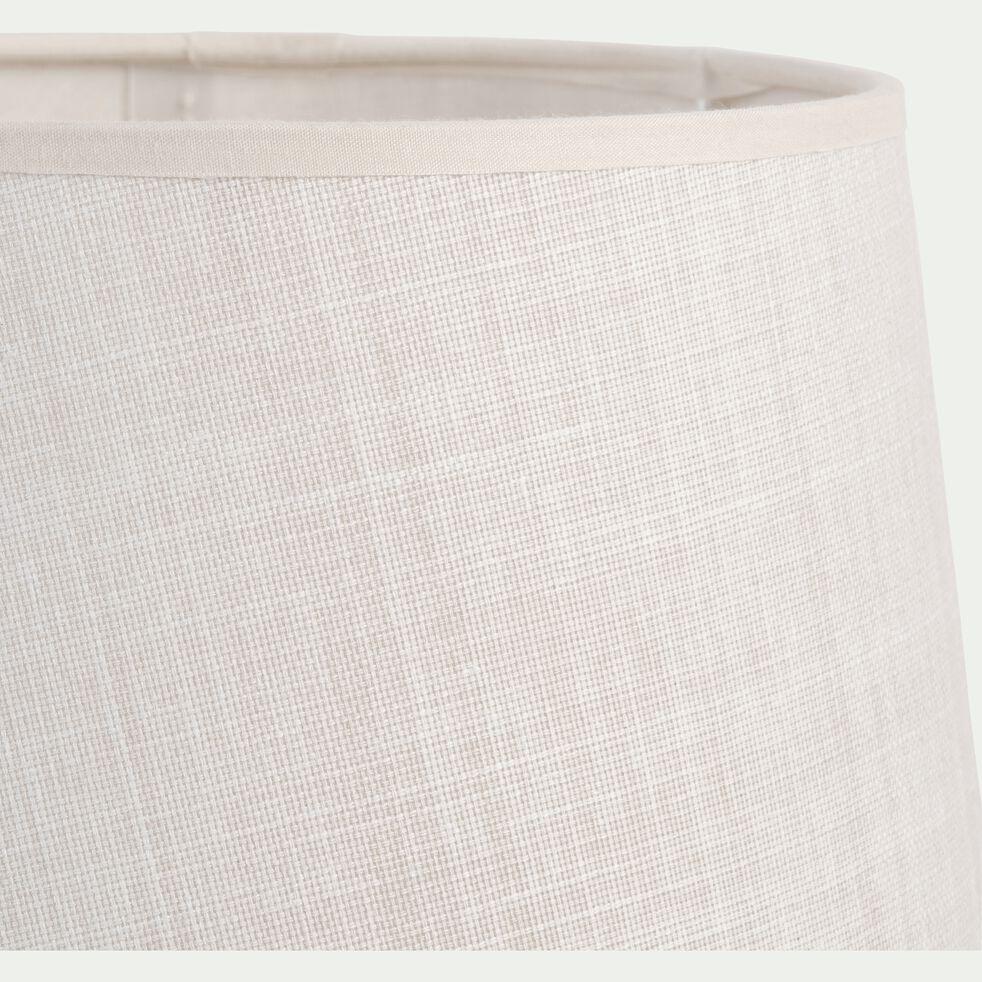 Abat-jour tambour en coton - D23cm beige roucas-MISTRAL