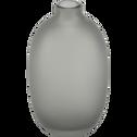 Vase en verre gris H15,5cm-PISTIL