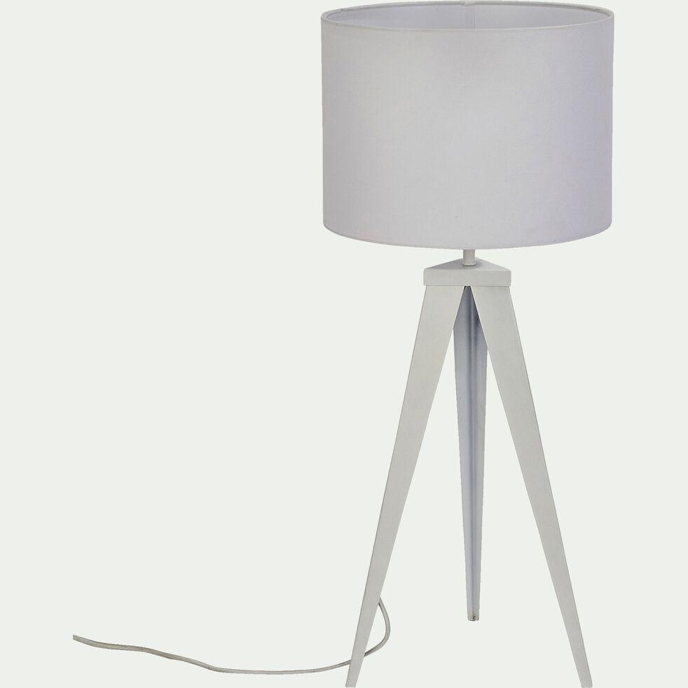Lampe à poser en métal H63xD35cm - blanc-TRIX