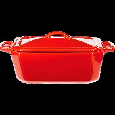 Terrine à foie gras en porcelaine rouge - L18cm-TERIN