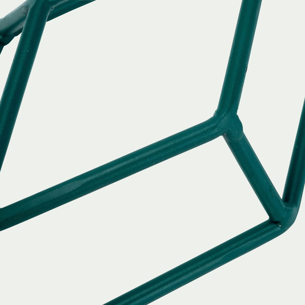 Patère losange en métal - bleu H24cm-PACHA