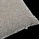 Coussin en coton chambray gris 30x50cm-LIVIO